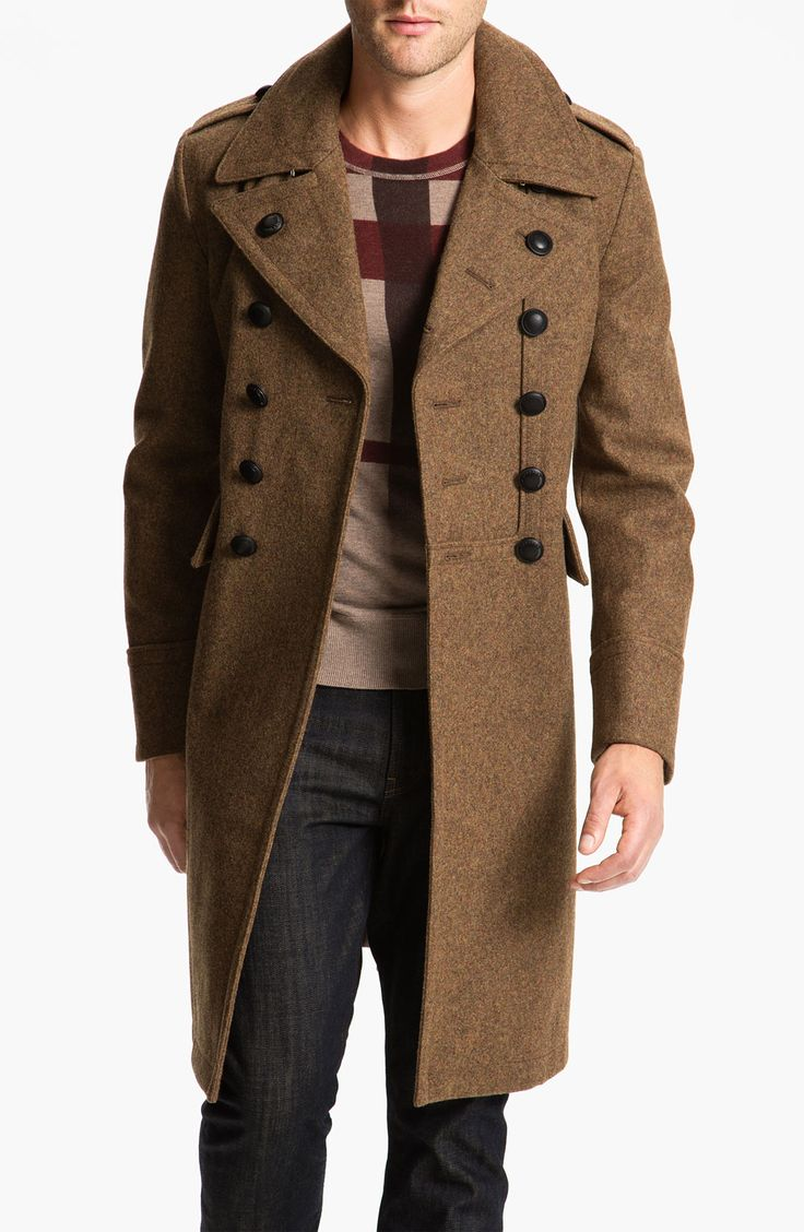 Wool Blend Trench Coat, by Burberry Brit #coat #military