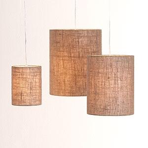 lights!: Market Pendants, Burlap Lamp, Burlap Shades, Lighting Ideas, Burlap Pendants, Kitchen, Pendant Lights, Irving Burlap, Burlap Lights