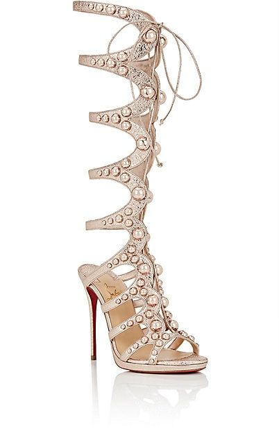 Christian Louboutin Amazoutiful Specchio Leather Gladiator Sandals - Heels - 505410133