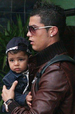 Cristiano Ronaldo and Cristiano Ronaldo Jr.... So adorable