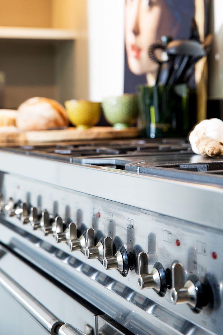 Smeg   Dubbele oven en 6 pits fornuis met grillplaat