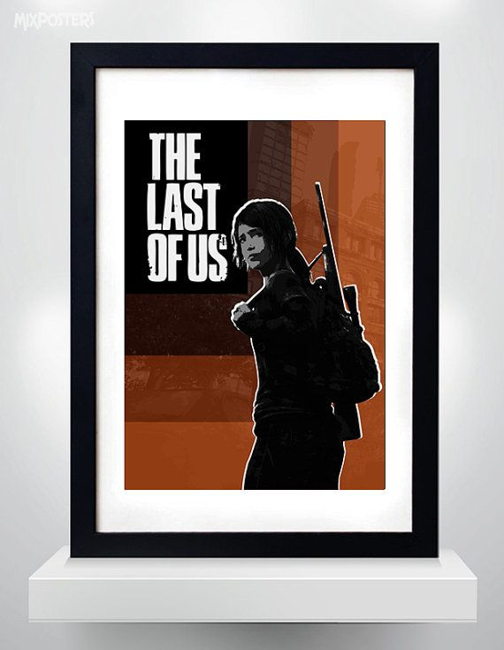The Last of Us, Ellie, framed print... ouo Once I get mah own house/room I'm going to fill it completely up with videogame art XD -Will