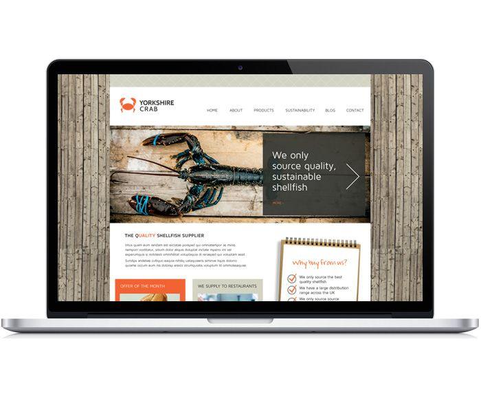 Yorkshire Crab Brand Design - Website