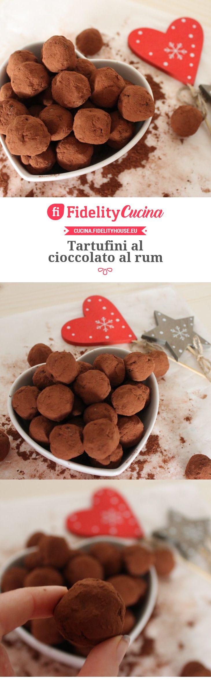 Tartufini al cioccolato al rum