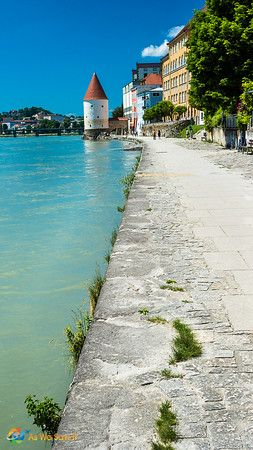 Three rivers converge at Passau, Germany