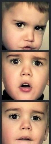 Baby JB SO CUTE!!! ok I will admit this once he is a little cute as a baby!