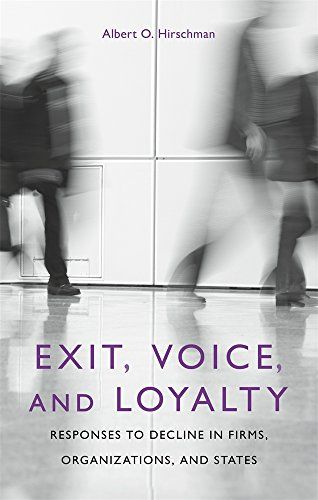 Exit, Voice, and Loyalty: Responses to Decline in Firms, Organizations, and States by Albert O. Hirschman