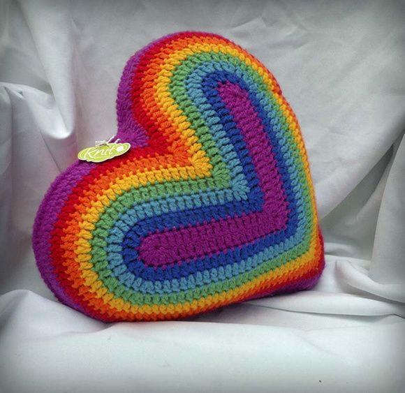 Almohadones Corazón al Crochet