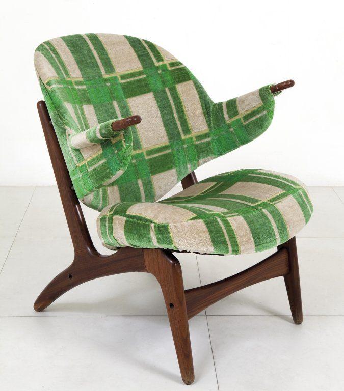 Arne Hovmand-Olsen; Teak Frame Lounge Chair, c1960.