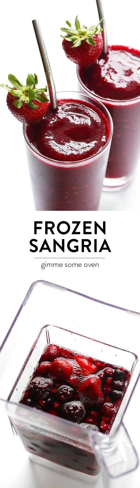 Frozen Sangria -- ready to go in about 2 minutes, and SO tasty! | gimmesomeoven.com