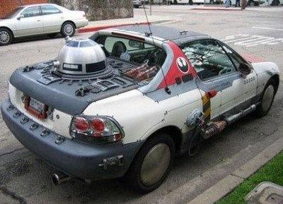 The force is strong with this one!: War Stuff, War Cars, Starwars Custom, Geek Stuff, Stars War, War Geek, Awesome Cars, Sun, Geeky Stuff