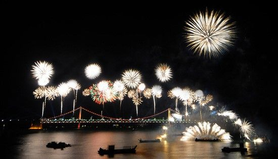 Fire-works of Busan in Korea