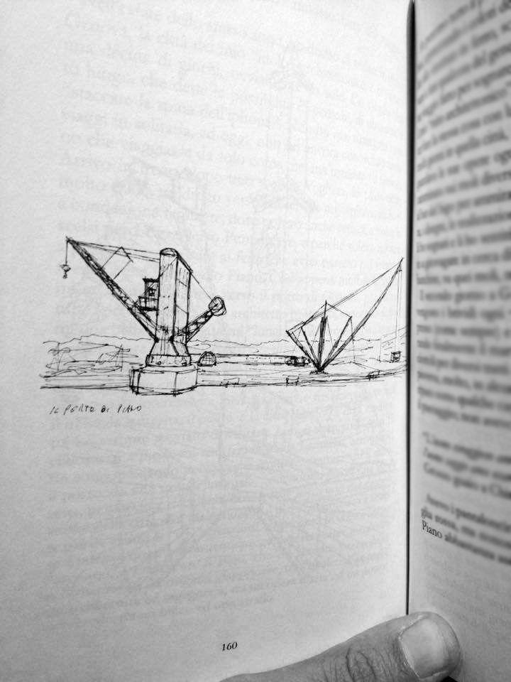 """""""Pablo Neruda ha detto che il poeta quello che ha da dire, lo dice in poesia, perché non ha un altro modo di spiegarlo. Io, che faccio l'architetto, la morale non la predico: la disegno e la costruisco."""" - Renzo Piano #larchitettononserve #genova #bigo #portoantico #renzopiano #architettura #disegno #sketch #travel #book"""