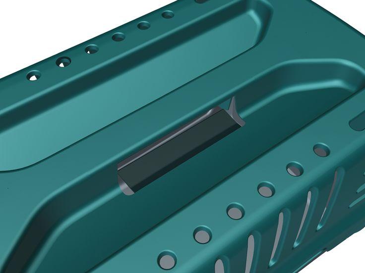 L'azienda 2GR è specializzata nella produzione di prodotti in materiale plastico per la cura degli animali. Il trasportino Calipso è stato interamente progettato tenendo conto delle esigenze estetiche ma soprattutto ergonomiche per facilitarne l'utilizzo. La realizzazione in soli tre pezzi, tra cui la griglia a ribalta sottolinea l'ottimizzazione della produzione del prodotto.