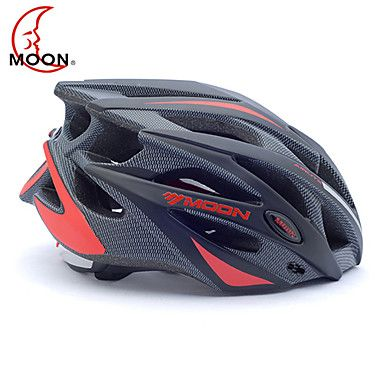 MOON+Bike+Helmet+Cycling+Black+and+Red+PC/EPS+21+Vents+Protective+Ride+Helmet+–+USD+$+19.99