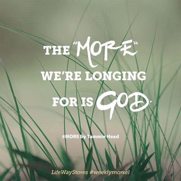 """""""The more we're longing for is God."""" #MORE by @TammieHead @BHpub @lifewaywomen"""