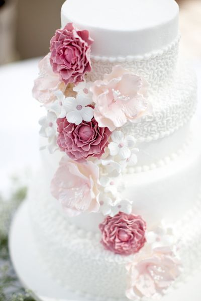 pink and blush .. i like the colors but also not sure about colors for me, but i love the cake detailing.