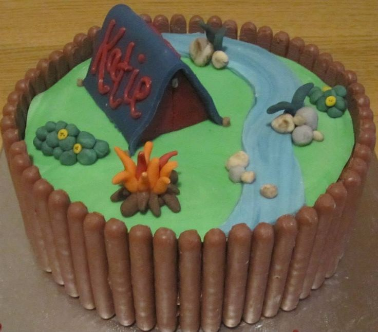 Camping Themed Cake Www Ooh Cake Co Uk Camping Party