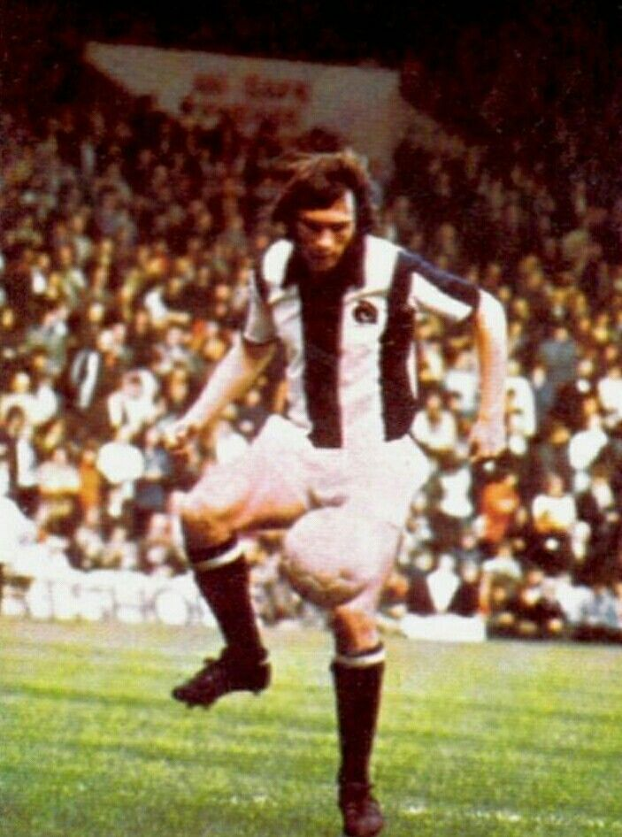 Jeff Astle in action for West Brom in 1972.