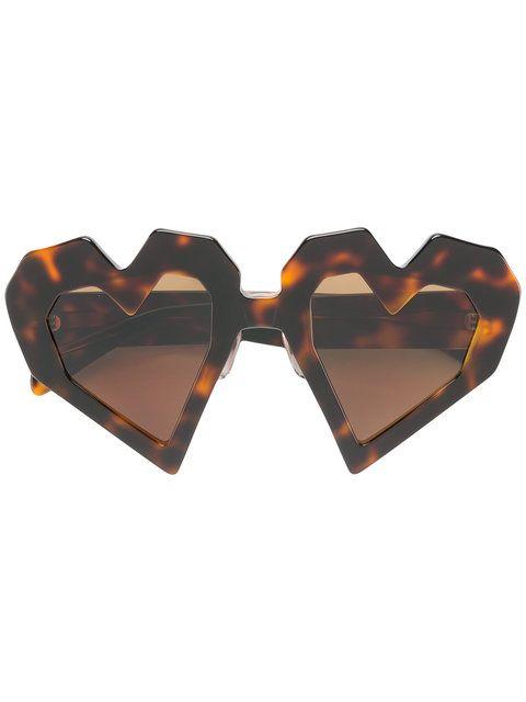 a0230c4392c5e Shop Maison Kitsuné oversized heart-shaped sunglasses