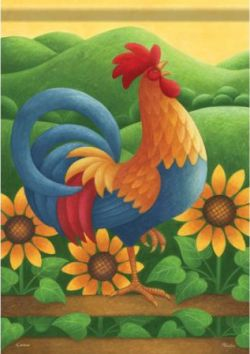 Sunflower And Rooster Themed Kitchen | Sunflower Kitchen Decor