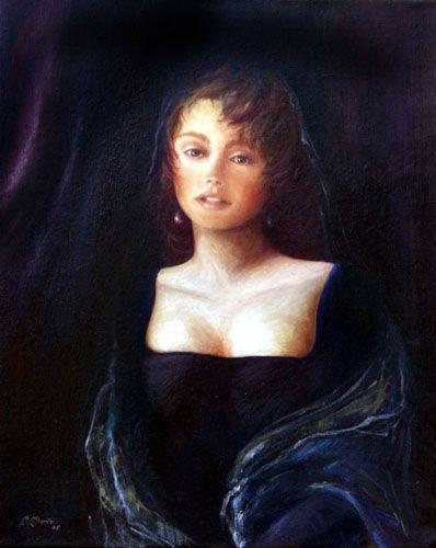 ritratto di donna - olio