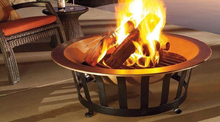 Patio Furniture Fire Pit Garden Outdoor Backyard Back Yard Firepit Solid Copper