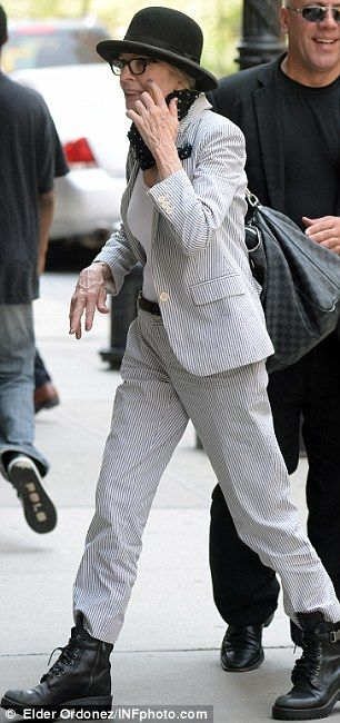 Diane Keaton....love the shoe she wore with that outfit..not for me.