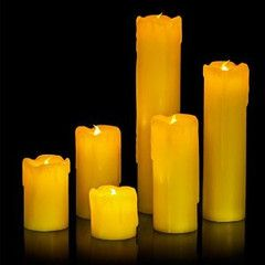 Party Lights - 6pc LED Dripping Candles