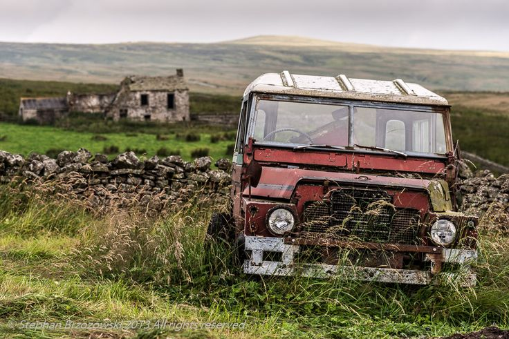 abandoned land rovers - Google Search