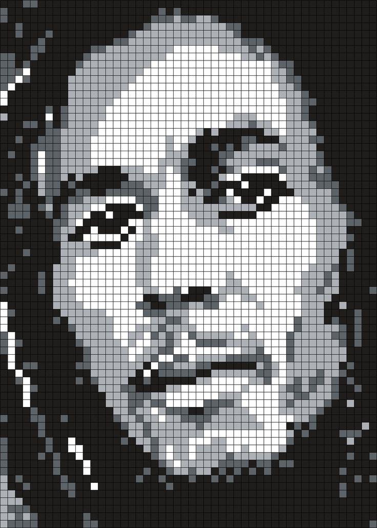 Bob_Marley_(Square) by Maninthebook on Kandi Patterns