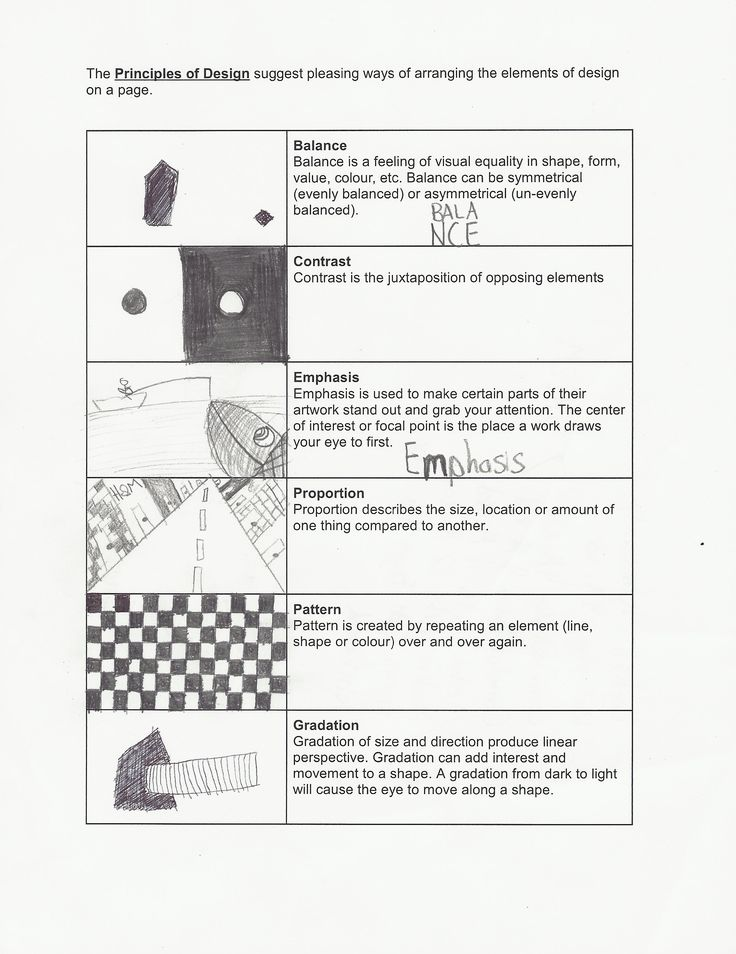 Worksheet Principles Of Design Worksheet principles of design worksheets and on pinterest