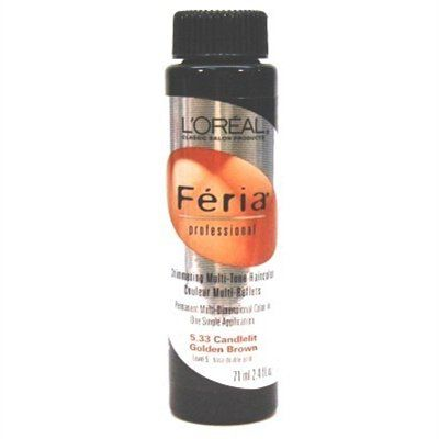 Loreal Feria Color -5.33 2.4oz Candlelit Golden Brown (6 Pack) * Click image to review more details. (This is an Amazon affiliate link)