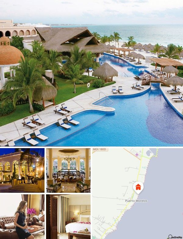 Het hotel ligt, omringd door prachtige natuur, aan het strand van Puerto Morelos aan de Riviera Maya en is slechts circa 20 minuten van Playa del Carmen verwijderd. Het stadscentrum van Puerto Morelos en de archeologische opgravingen kunt u te voet in circa 15 minuten bereiken, naar Cancún zijn het circa 30 kilometer. De internationale luchthaven van Cancún bevindt zich op ongeveer 25 km afstand.