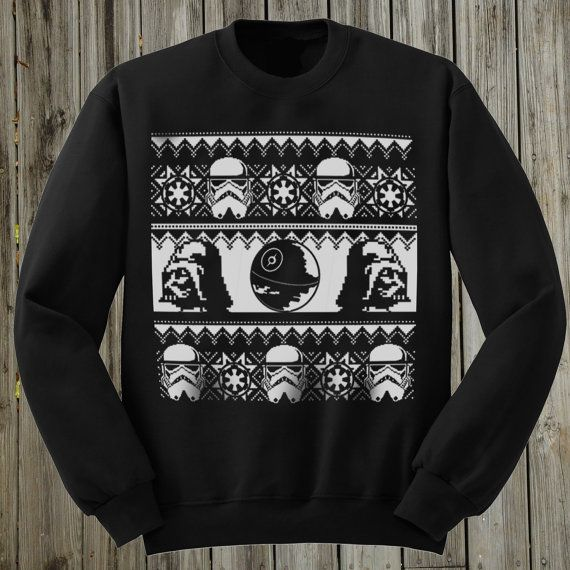 Star Wars Sweater. Ugly Christmas Sweater. Mens by PressThreads