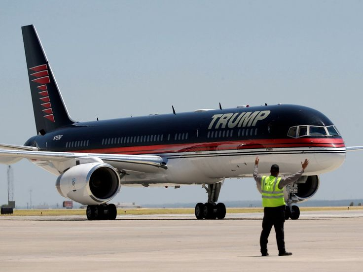 President Donald Trump's Boeing 757-200 private airliner - Business Insider