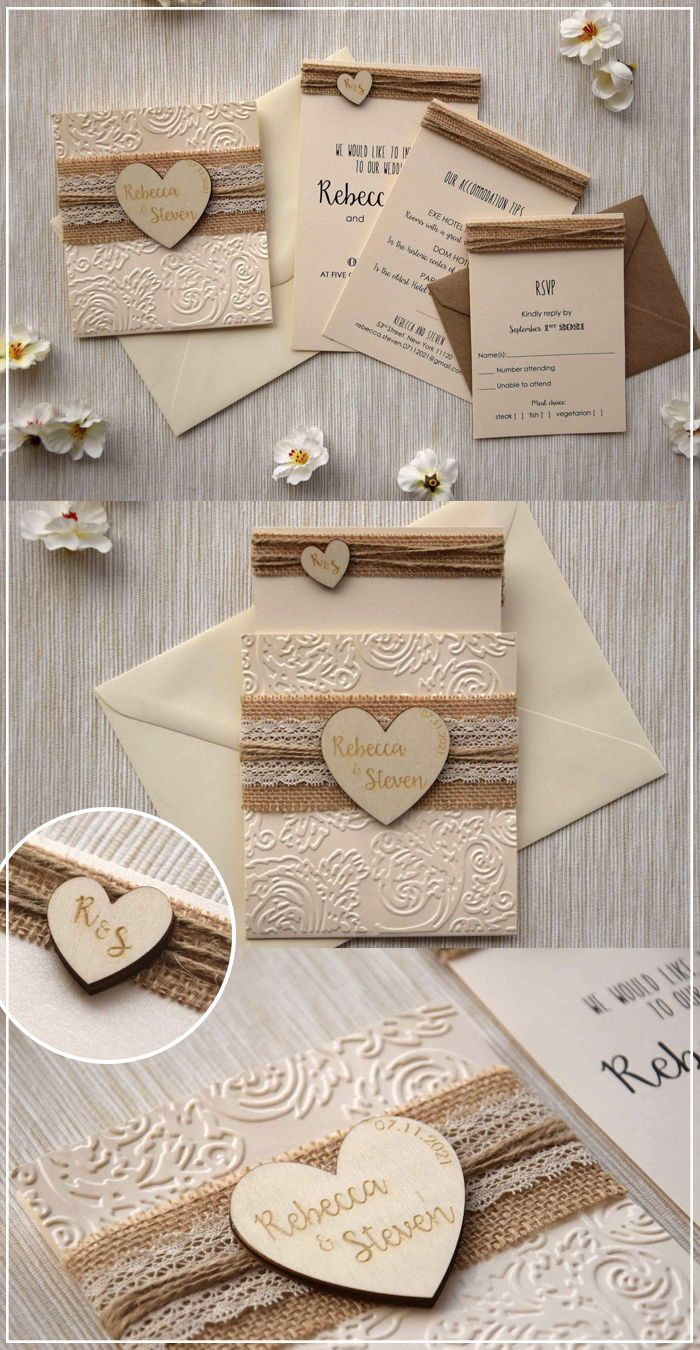 Rustic Lace Wedding Invitation Cheap Wedding Invitations Diy Rustic Wedding Invitations Burlap Country Wedding Invitations