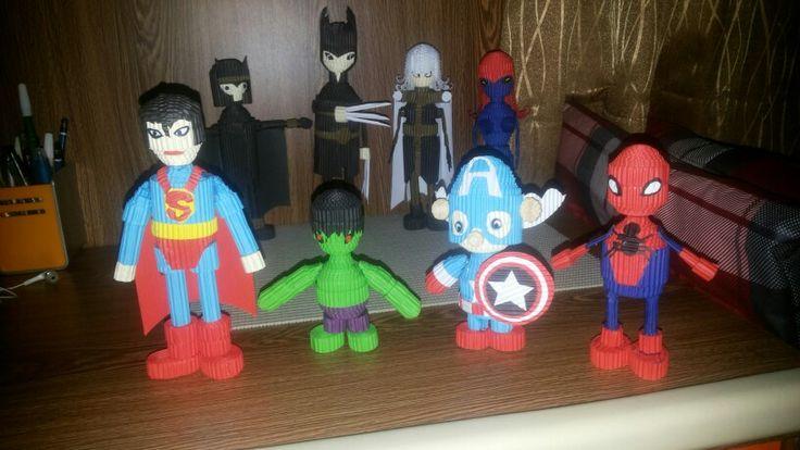 Superman, Hulk, Captain America and Spiderman