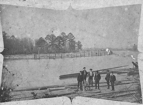 Moss Point Mississippi Lumber Boom On The East