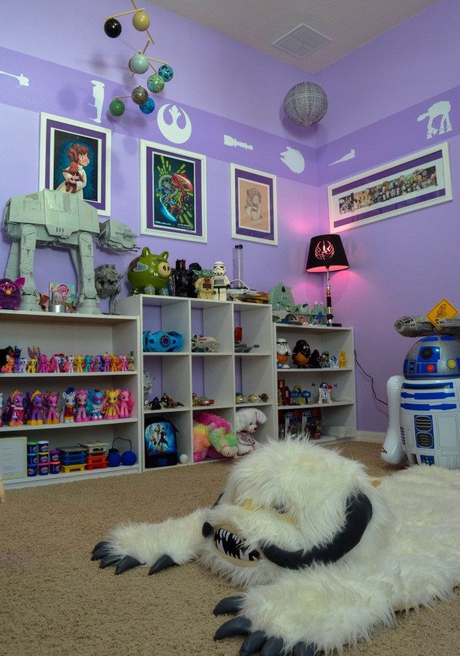 Kids Bedding Sets › Star Wars Nursery With Purple Wall Paint › Elegant Star Wars Nursery
