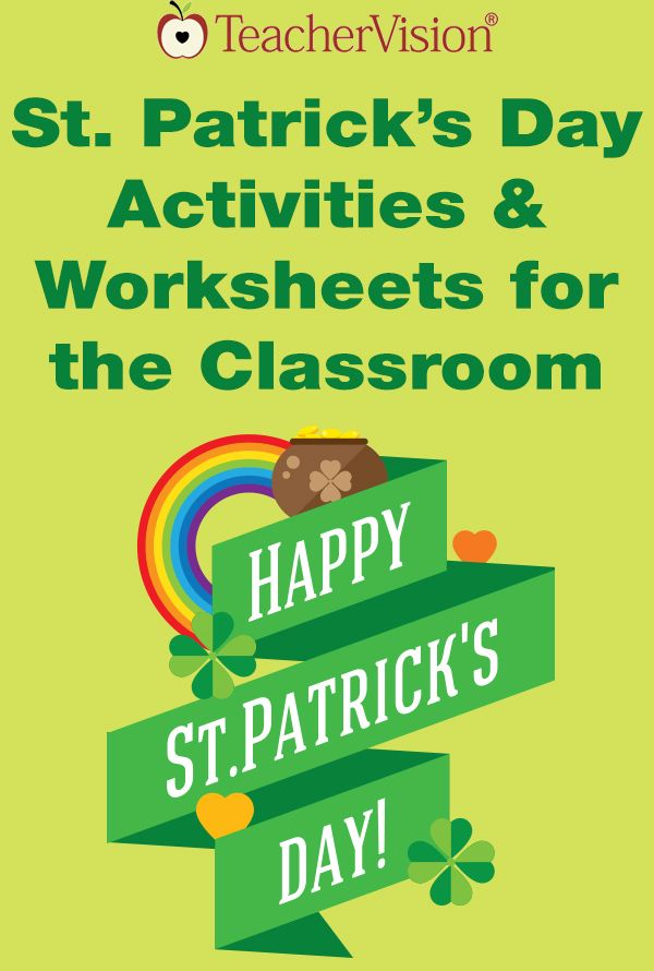 Learn about the legend of St. Patrick's Day and get shamrock cutouts from TeacherVision.
