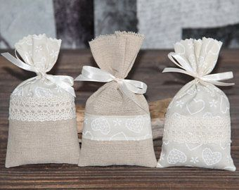 "Romantic set of 3 Lavender sachets ""Hearts"". Hand-made."