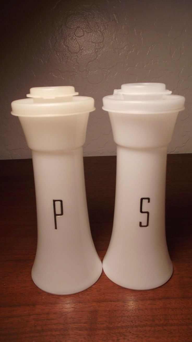 My Mom still has these..lol...Rare vintage Tupperware salt and pepper shakers/