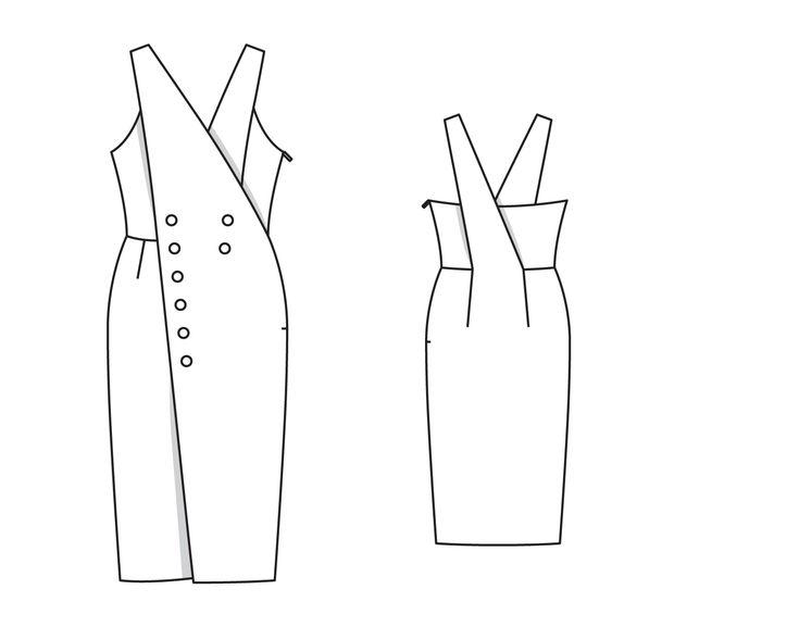 Платье - выкройка № 131 из журнала 10/2014 Burda – выкройки платьев на Burdastyle.ru