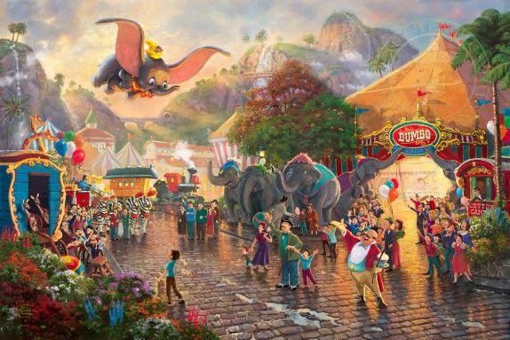 Disney Dumbo   The Thomas Kinkade Company