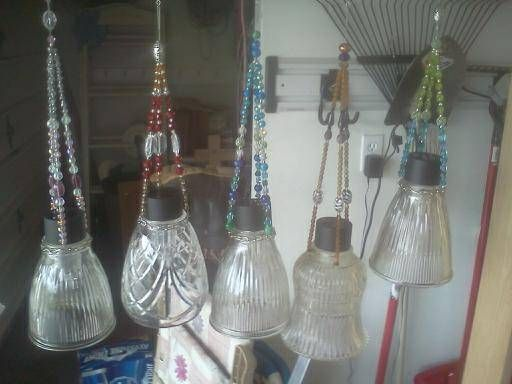 Repurpose Old Light Covers And Solar Lights To Make Some