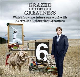 Grazed on Greatness Campaign - Watch how we infuse our wool with Australian Cricketing Greatness www.mjbale.com
