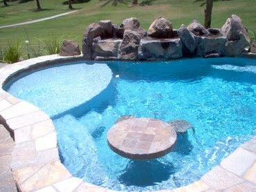 #mydreambackyard  so fun to paly card in one end of the pool! Small Backyard Pools Photo Gallery