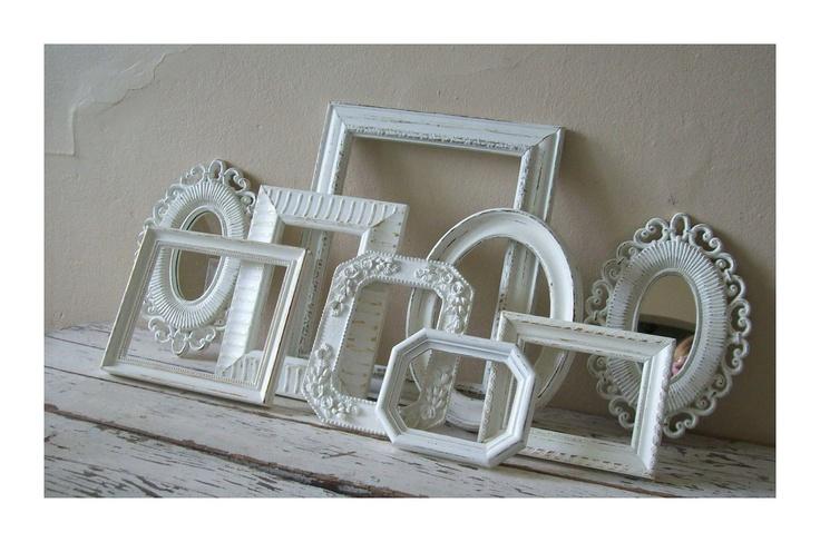 white vintage picture frames