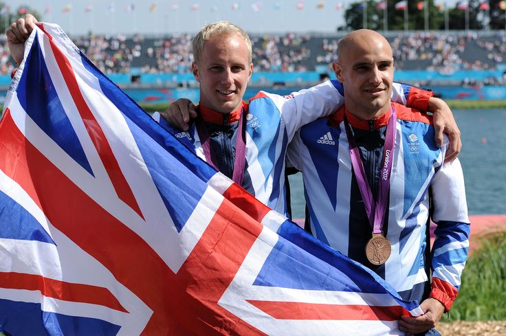 Liam Heath, Jon Schofield celebrating their bronze medal at london 2012